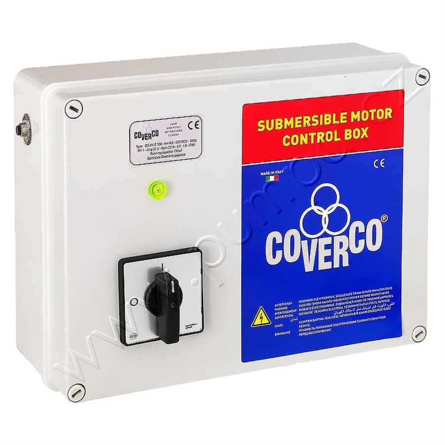 Spínací skříň Coverco COV-BOX M100 - 1F 0,75kW 35mF   CT00040420
