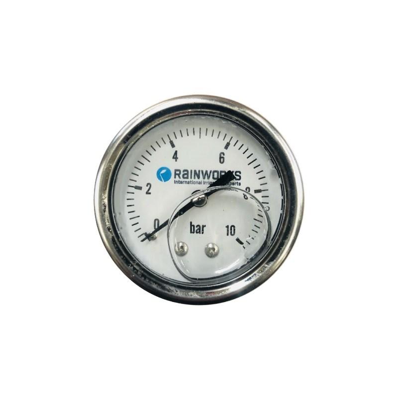 """Manometr zadní 0-10bar, glycerinový, 1/4"""" AG     CTP0803BA;CT181012"""